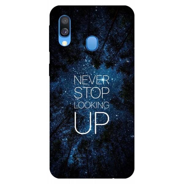 Husa Silicon Soft Upzz Print Huawei Samsung Galaxy A40 Model Never Stop imagine itelmobile.ro 2021
