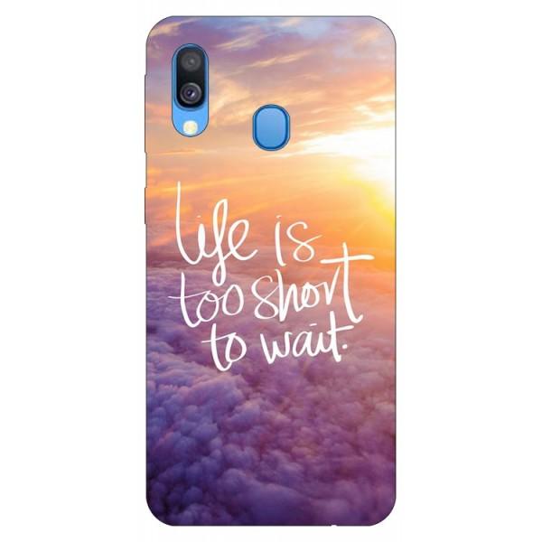 Husa Silicon Soft Upzz Print Samsung Galaxy A20e Model Life imagine itelmobile.ro 2021