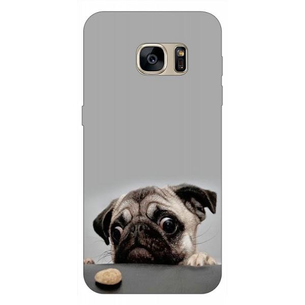 Husa Silicon Soft Upzz Print Samsung S7 Edge Model Dog imagine itelmobile.ro 2021