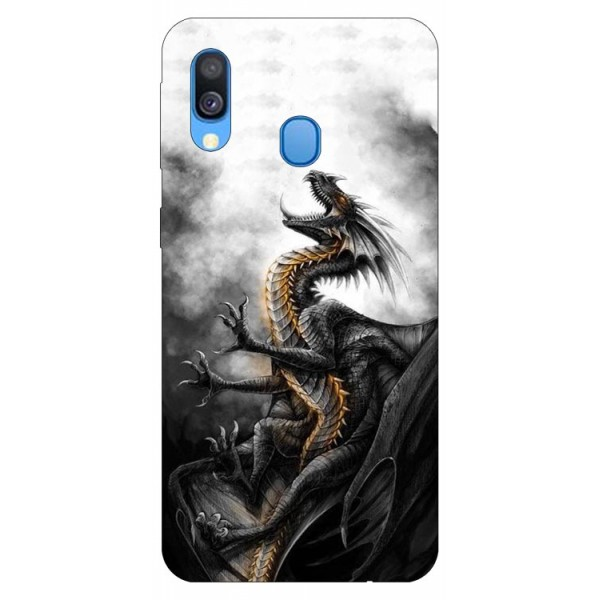 Husa Silicon Soft Upzz Print Samsung Galaxy A20e Model Dragon 1 imagine itelmobile.ro 2021