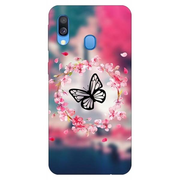 Husa Silicon Soft Upzz Print Samsung Galaxy A20e Model Butetrfly imagine itelmobile.ro 2021