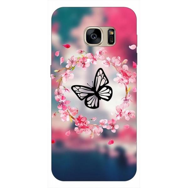 Husa Silicon Soft Upzz Print Samsung S7 Model Butterfly 1 imagine itelmobile.ro 2021