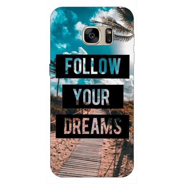 Husa Silicon Soft Upzz Print Samsung S7 Model Dreams imagine itelmobile.ro 2021