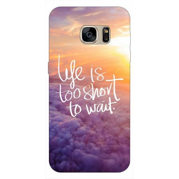 Husa Silicon Soft Upzz Print Samsung S7 Model Life imagine itelmobile.ro 2021