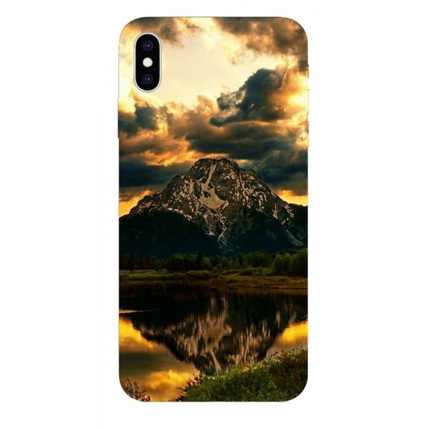 Husa Silicon Soft Upzz Print iPhone Xs Sau X Model Apus imagine itelmobile.ro 2021