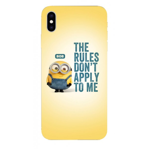 Husa Silicon Soft Upzz Print iPhone Xs Sau X Model Bob imagine itelmobile.ro 2021