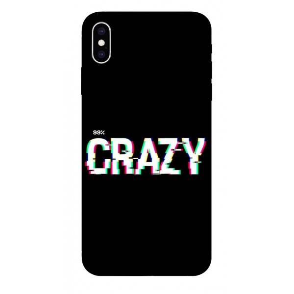 Husa Silicon Soft Upzz Print iPhone Xs Sau X Model Crazy imagine itelmobile.ro 2021