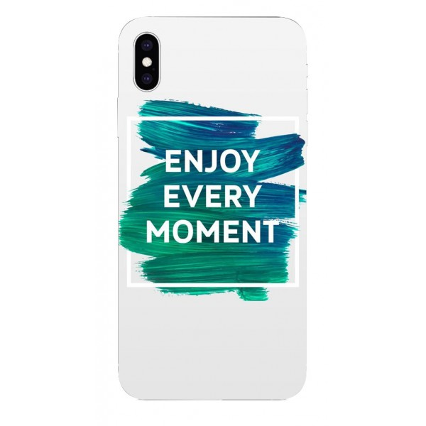 Husa Silicon Soft Upzz Print iPhone Xs Sau X Model Enjoy imagine itelmobile.ro 2021