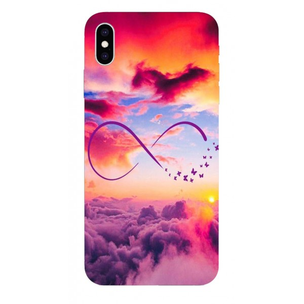 Husa Silicon Soft Upzz Print iPhone Xs Sau X Model Infinity imagine itelmobile.ro 2021