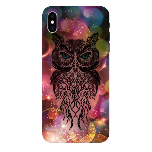 Husa Silicon Soft Upzz Print iPhone Xs Sau X Model Sparkle Owl imagine itelmobile.ro 2021