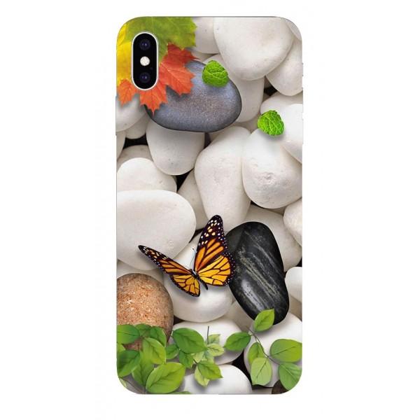Husa Silicon Soft Upzz Print iPhone Xs Sau X Model Zen imagine itelmobile.ro 2021