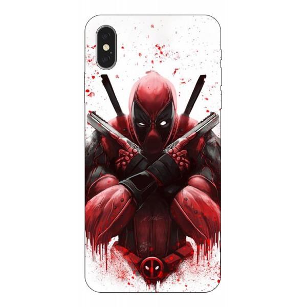 Husa Silicon Soft Upzz Print iPhone Xs Max Model Antihero imagine itelmobile.ro 2021