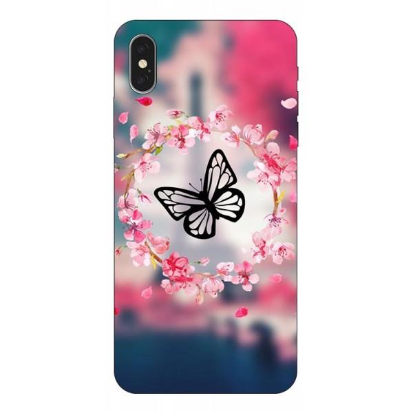 Husa Silicon Soft Upzz Print iPhone Xs Max Model Butterfly 1 imagine itelmobile.ro 2021