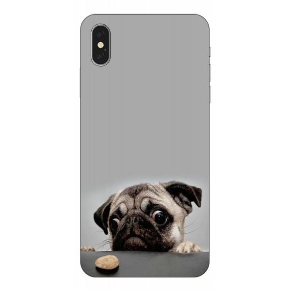 Husa Silicon Soft Upzz Print iPhone Xs Max Model Dog imagine itelmobile.ro 2021