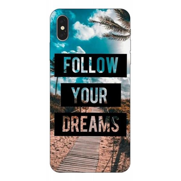 Husa Silicon Soft Upzz Print iPhone Xs Max Model Dreams imagine itelmobile.ro 2021