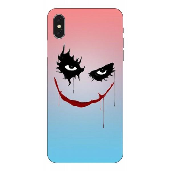 Husa Silicon Soft Upzz Print iPhone Xs Max Model Joker imagine itelmobile.ro 2021