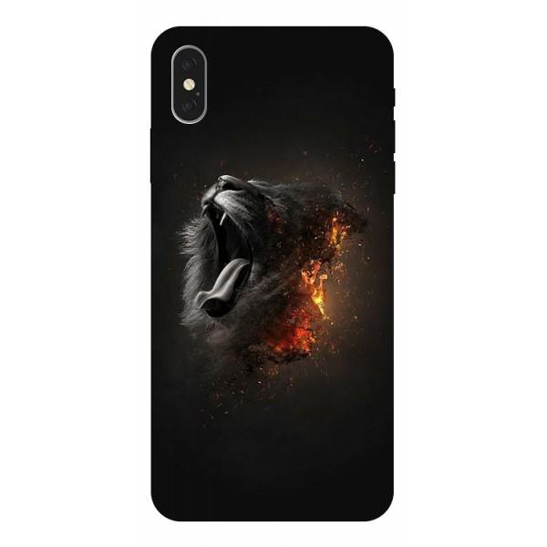 Husa Silicon Soft Upzz Print iPhone Xs Max Model Lion imagine itelmobile.ro 2021