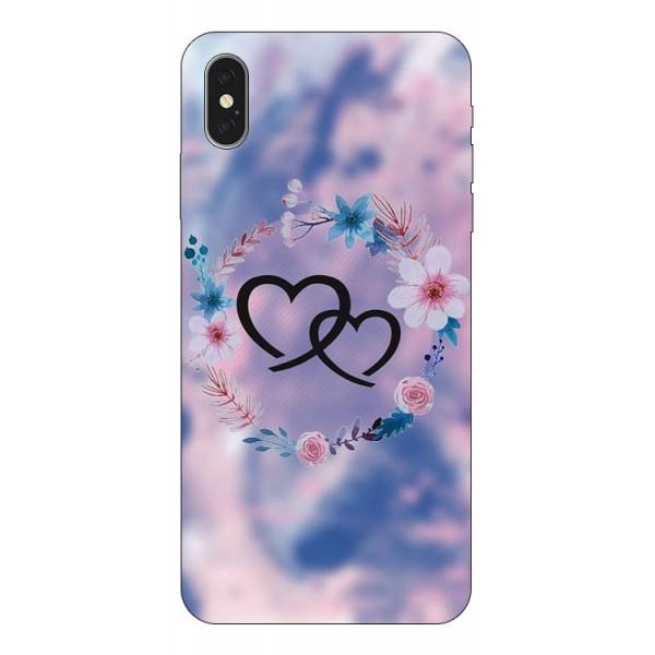 Husa Silicon Soft Upzz Print iPhone Xs Max Model Love imagine itelmobile.ro 2021