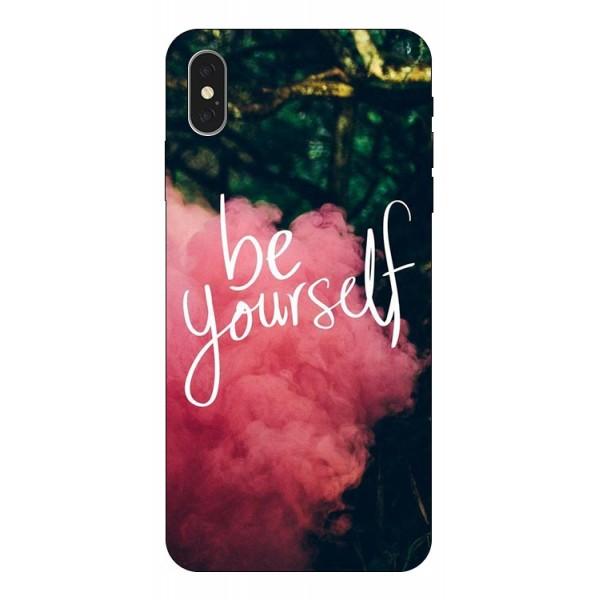 Husa Silicon Soft Upzz Print iPhone Xs Model Be Yourself imagine itelmobile.ro 2021