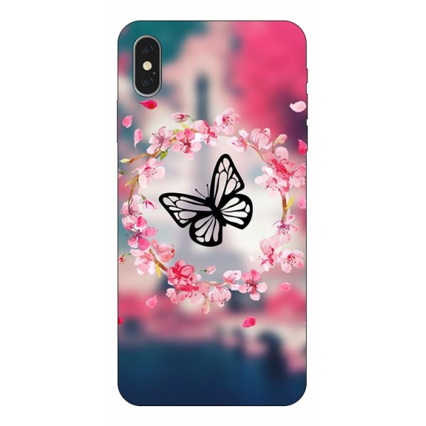 Husa Silicon Soft Upzz Print iPhone Xs Model Butterfly 1 imagine itelmobile.ro 2021