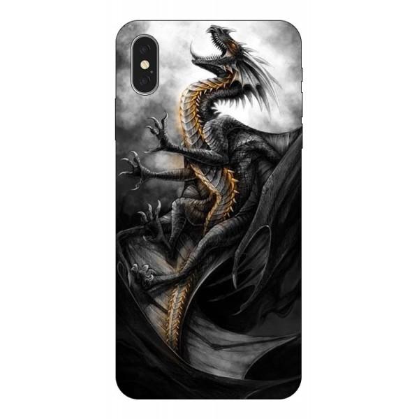 Husa Silicon Soft Upzz Print iPhone Xs Model Dragon 1 imagine itelmobile.ro 2021