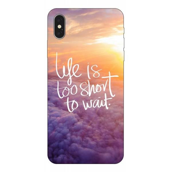 Husa Silicon Soft Upzz Print iPhone Xs Model Life imagine itelmobile.ro 2021
