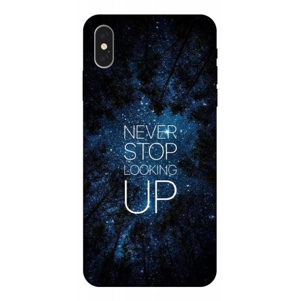 Husa Silicon Soft Upzz Print iPhone Xs Model Never Stop imagine itelmobile.ro 2021