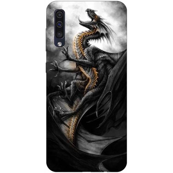 Husa Silicon Soft Upzz Print Samsung Galaxy A50 Model Dragon 1 imagine itelmobile.ro 2021