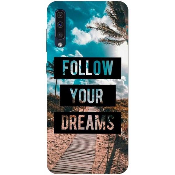 Husa Silicon Soft Upzz Print Samsung Galaxy A50 Model Dreams imagine itelmobile.ro 2021