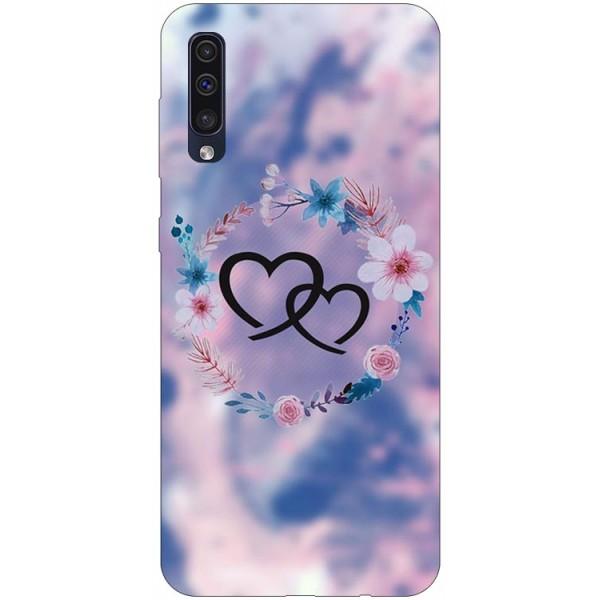 Husa Silicon Soft Upzz Print Samsung Galaxy A50 Model Love imagine itelmobile.ro 2021