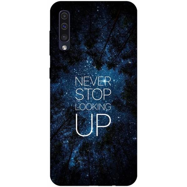 Husa Silicon Soft Upzz Print Samsung Galaxy A50 Model Never Stop imagine itelmobile.ro 2021