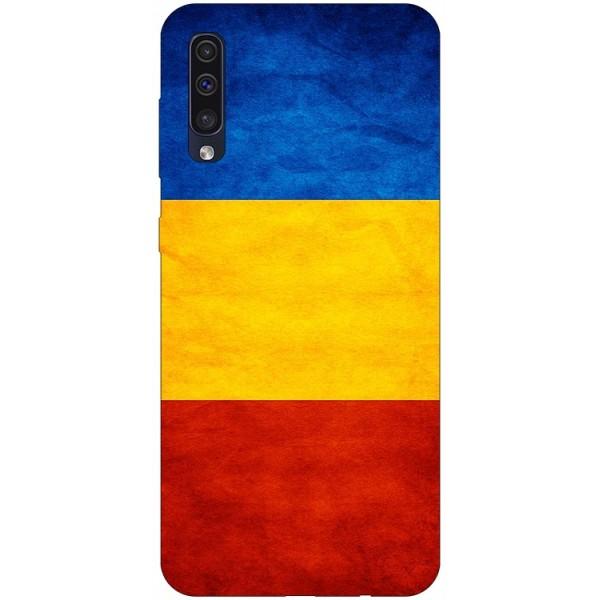 Husa Silicon Soft Upzz Print Samsung Galaxy A50 Model Tricolor imagine itelmobile.ro 2021