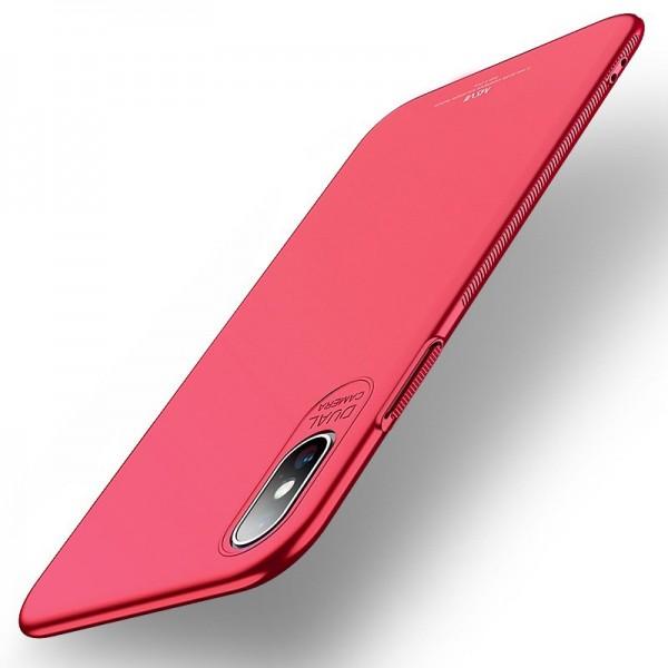 Husa Premium Upzz Msvii Ultra Slim iPhone Xs Max Red imagine itelmobile.ro 2021