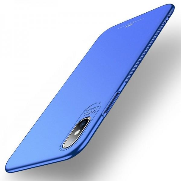 Husa Premium Upzz Msvii Ultra Slim iPhone Xs Max Blue imagine itelmobile.ro 2021