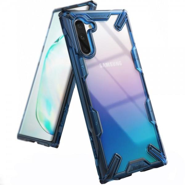 Husa Premium Ringke Fushion X Samsung Galaxy Note 10 Albastru Transparent imagine itelmobile.ro 2021