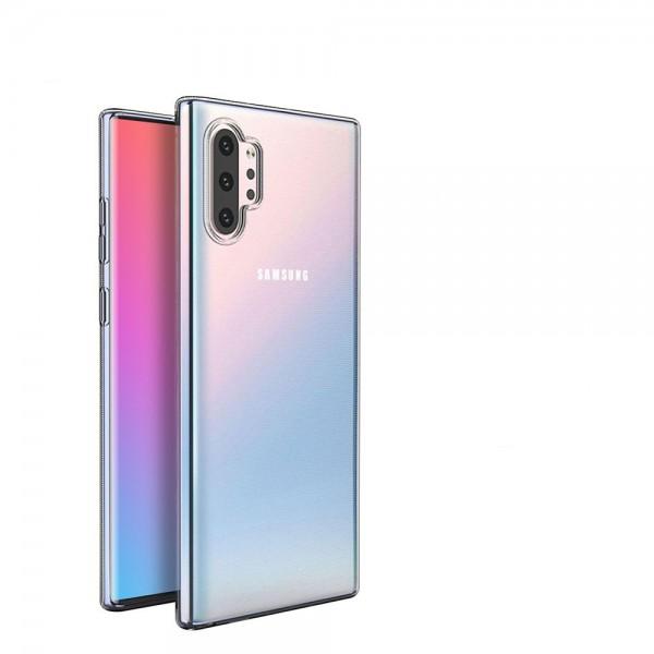 Husa Spate Silicon Ultra Slim Upzz Samsung Galaxy Note 10 Plus Transparenta imagine itelmobile.ro 2021