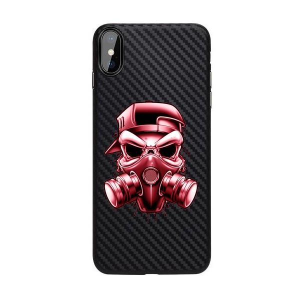 Husa Premium Upzz Print iPhone X / Xs Carbon Silicon Negru - Gang imagine itelmobile.ro 2021