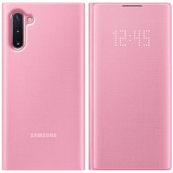 Husa Premium Originala Samsung Galaxy Note 10 Led View Pink Roz imagine itelmobile.ro 2021