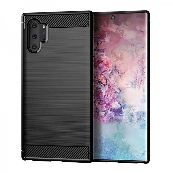 Husa Spate Forcell Carbon Pro Samsung Galaxy Note 10 Negru Silicon imagine itelmobile.ro 2021