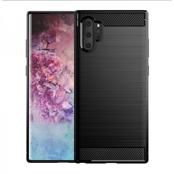 Husa Spate Forcell Carbon Pro Samsung Galaxy Note 10 Plus Negru Silicon imagine itelmobile.ro 2021