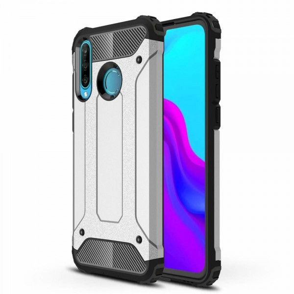 Husa Spate Armor Forcell Huawei P30 Lite Silver imagine itelmobile.ro 2021