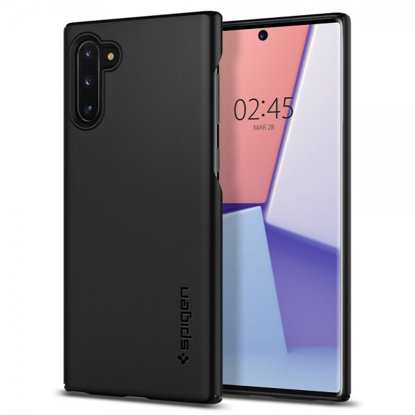 Husa Premium Originala Spigen Thin Fit Slim Samsung Galaxy Note 10 Negru imagine itelmobile.ro 2021