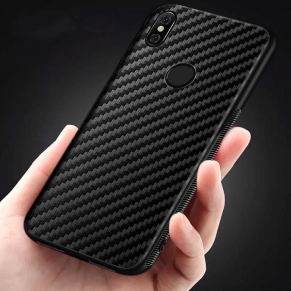 Husa Spate Upzz Carbon Fiber Samsung Galaxy A10, Silicon, Slim Neagra imagine itelmobile.ro 2021