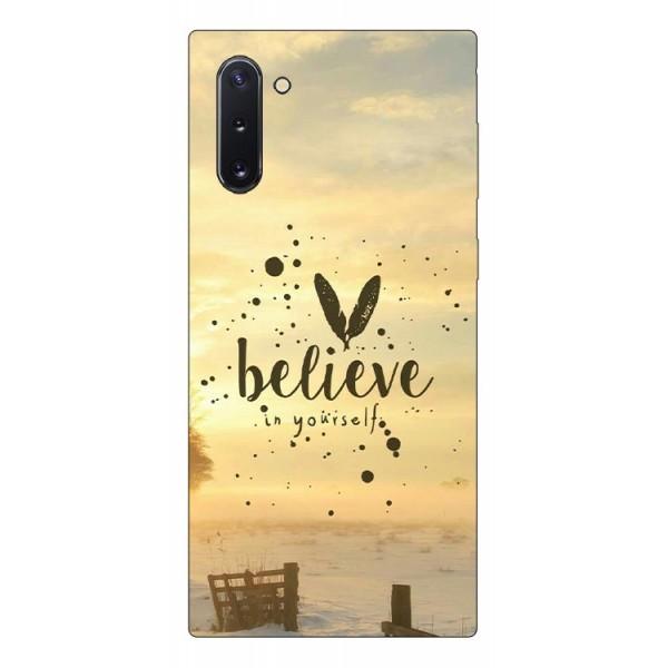 Husa Premium Upzz Print Samsung Galaxy Note 10 Model Believe imagine itelmobile.ro 2021
