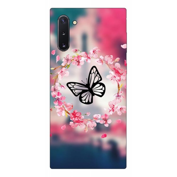 Husa Premium Upzz Print Samsung Galaxy Note 10 Model Butterfly imagine itelmobile.ro 2021