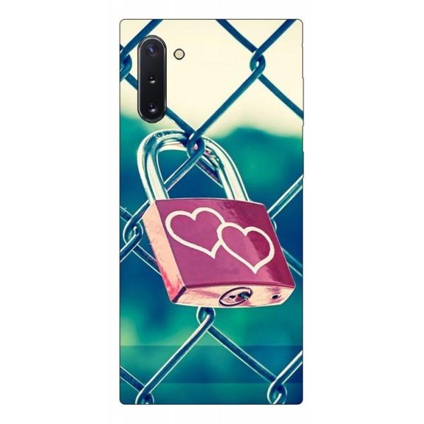 Husa Premium Upzz Print Samsung Galaxy Note 10 Model Heart Lock imagine itelmobile.ro 2021