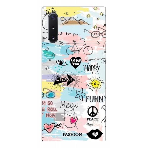 Husa Premium Upzz Print Samsung Galaxy Note 10 Model Meow imagine itelmobile.ro 2021