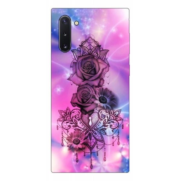 Husa Premium Upzz Print Samsung Galaxy Note 10 Model Neon Rose imagine itelmobile.ro 2021