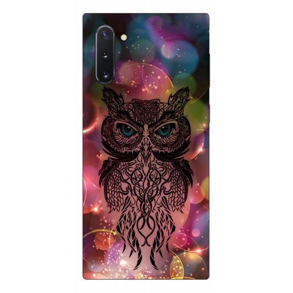 Husa Premium Upzz Print Samsung Galaxy Note 10 Model Sparkle Owl imagine itelmobile.ro 2021