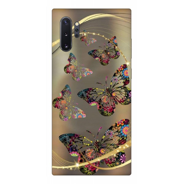 Husa Premium Upzz Print Samsung Galaxy Note 10+ Plus Model Golden Butterfly imagine itelmobile.ro 2021